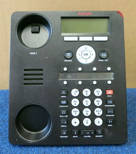 Avaya 1608-I One-X Business VoIP PoE Deskphone Telephone With Stand NO HANDSET